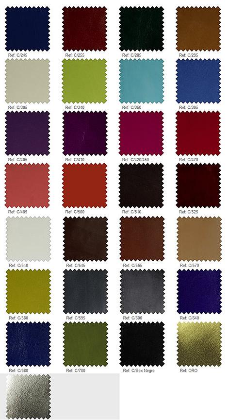 Farbkarte Leder